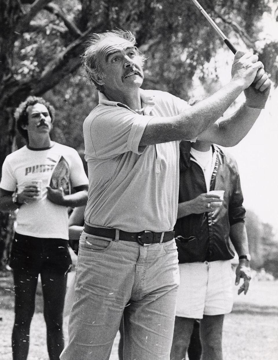 <p>Connery during Celebrity-Police Golf Tournament at Rancho Park in Los Angeles, 1983. </p>
