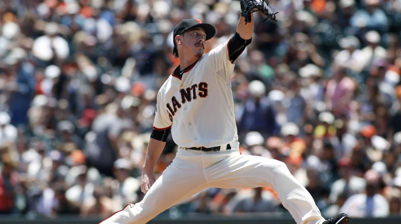 Ex-Giants star Tim Lincecum is reportedly close to signing with the Texas Rangers for his second big-league comeback attempt. (AP)
