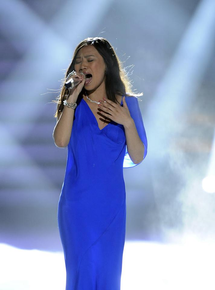 """Jessica Sanchez performs """"I Will Always Love You"""" by Dolly Parton on American Idol."""""""