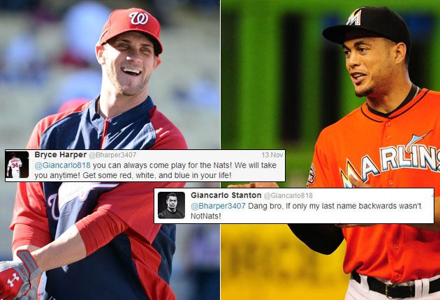 Giancarlo Stanton rebuffs Bryce Harper's offer with funny observation