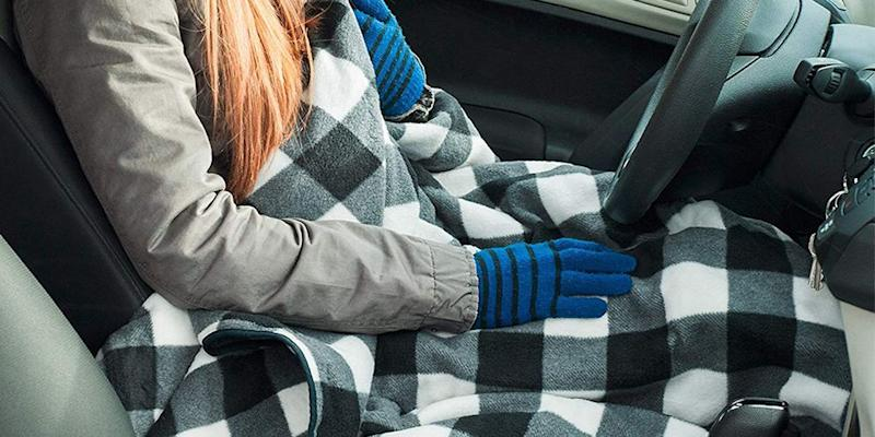 This heated blanket plugs into your car. (Credit: Walmart)