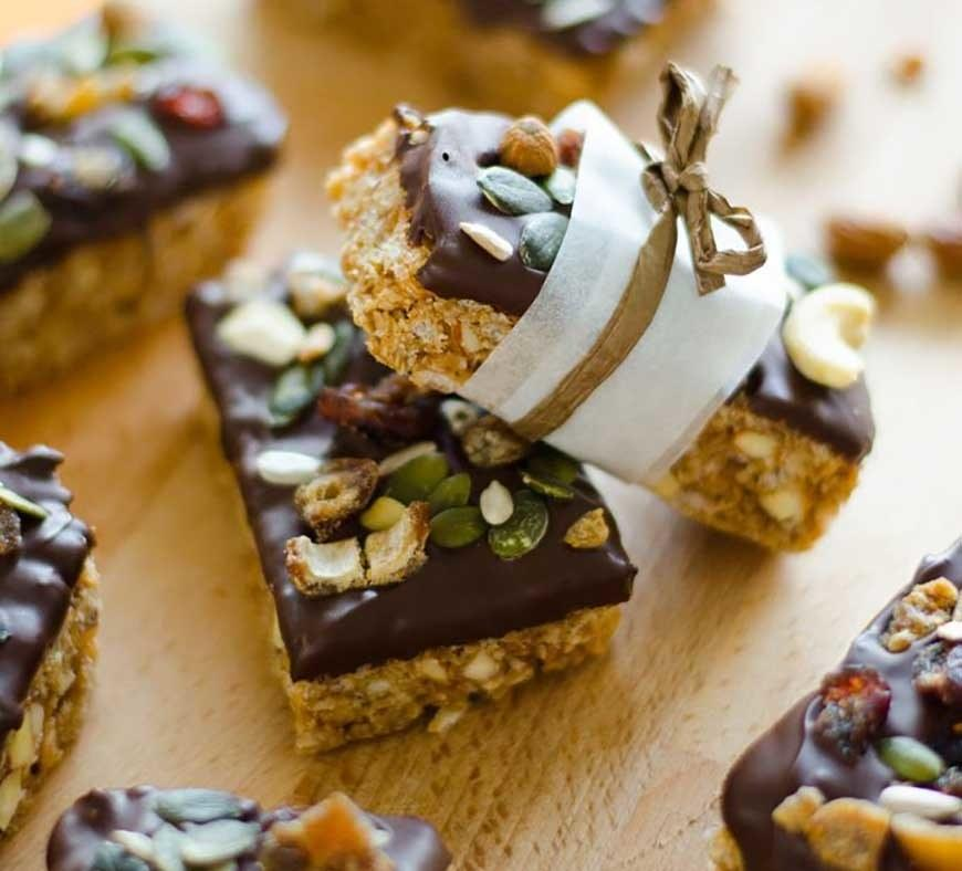"""<p>This recipe puts all your favorite parts of a granola bar right on top: chocolate, fruit, nuts, you name it. Get the recipe <a rel=""""nofollow"""" href=""""http://www.liveeatlearn.com/inside-granola-bars?mbid=synd_yahoofood"""">here</a>.</p>"""