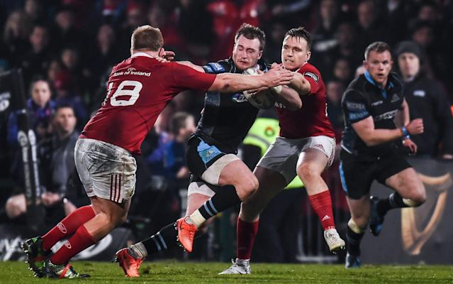 <span>Despite an indifferent domestic campaign, Glasgow Warriors and Stuart Hogg are assured of Champions Cup rugby next season</span> <span>Credit: Rex Features </span>