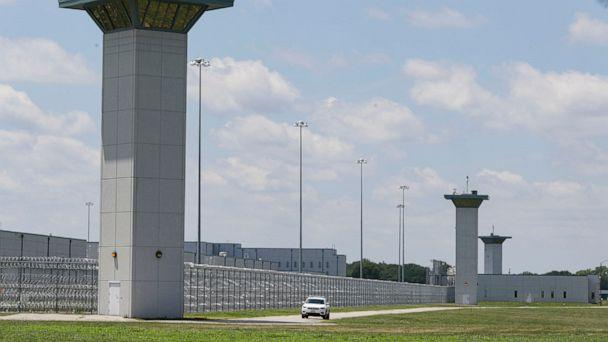 PHOTO: A vehicle patrols that perimeter of the federal prison complex in Terre Haute, Ind., July 17, 2020.  (Michael Conroy/AP, FILE)