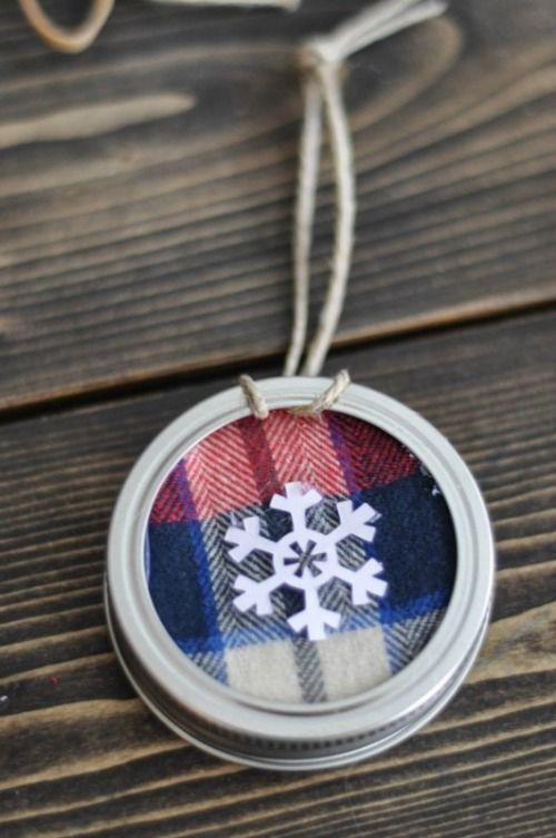 """<p>Bet you never thought to use your Mason jar lids for ornaments!</p><p><strong>Get the tutorial at <a href=""""http://www.cleanandscentsible.com/2014/12/mason-jar-lid-ornaments.html"""" rel=""""nofollow noopener"""" target=""""_blank"""" data-ylk=""""slk:Clean and Scentsible"""" class=""""link rapid-noclick-resp"""">Clean and Scentsible</a>.</strong></p><p><a class=""""link rapid-noclick-resp"""" href=""""https://www.amazon.com/Ball-Mouth-Mason-Dozen-Total/dp/B015T5M9MC/?tag=syn-yahoo-20&ascsubtag=%5Bartid%7C10050.g.1070%5Bsrc%7Cyahoo-us"""" rel=""""nofollow noopener"""" target=""""_blank"""" data-ylk=""""slk:SHOP MASON JAR LIDS"""">SHOP MASON JAR LIDS</a><br></p>"""