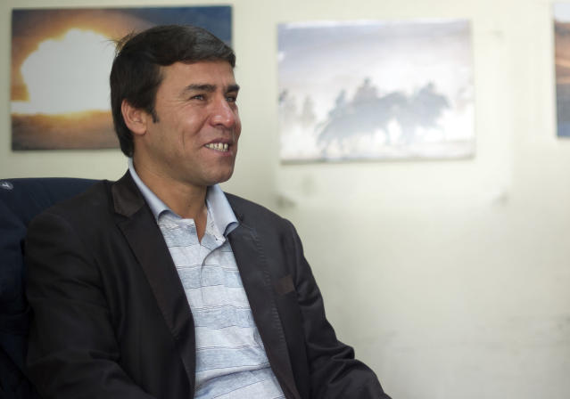 <p>This file photo taken on April 17, 2012 and released by the Agence France-Presse (AFP) on Monday, April 30 , 2018, shows AFP photographer Shah Marai at the AFP bureau in Kabul. Agence France-Presse's chief photographer in Kabul, Shah Marai, was killed April 30, AFP has confirmed, in a secondary explosion targeting a group of journalists who had rushed to the scene of a suicide blast in the Afghan capital. (Photo:Johannes Eisele/AFP via AP) </p>