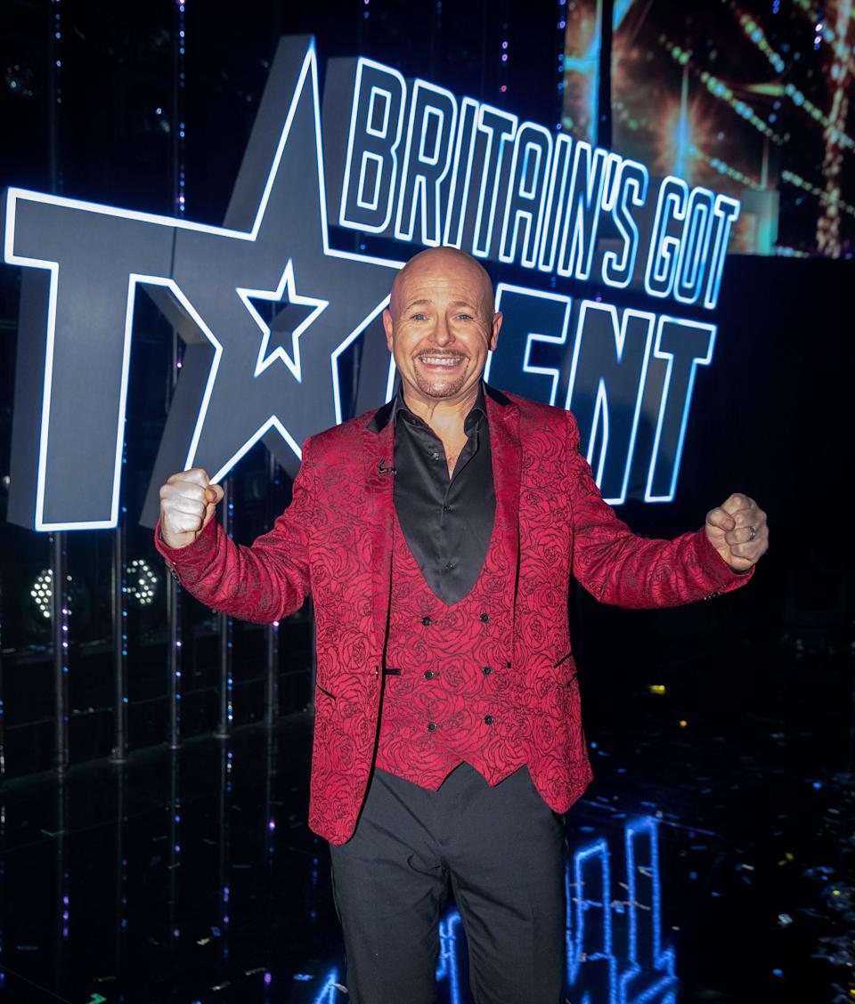 Jon Courtenay celebrates his BGT win (Photo: Dymond/Thames/Syco/Shutterstock)