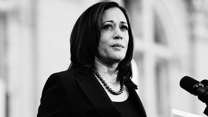 Sen. Kamala Harris at her presidential campaign launch rally in Oakland, Calif., January 2019. (Mason Trinca/Getty Images)