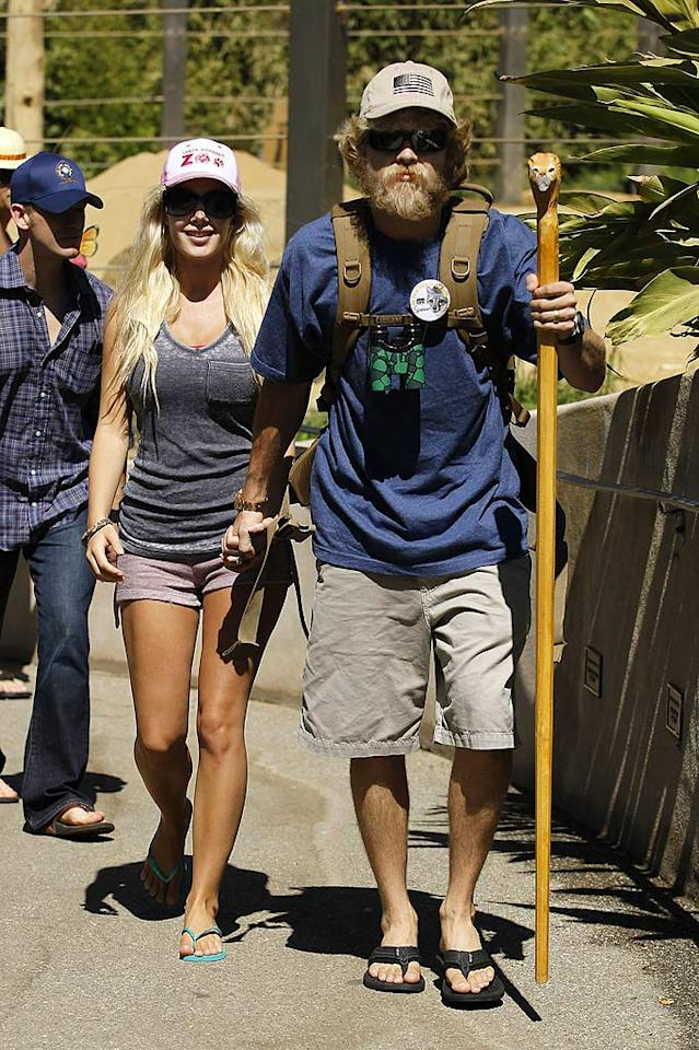 """Former """"Hills"""" star Heidi Montag reunited with her hubby Spencer Pratt for a trip to the Santa Barbara Zoo on her 24th birthday Wednesday. Although Heidi filed for divorce in July, the two appear to be back together following their 12-hour detainment at an airport in Costa Rica after two unloaded handguns were found in their luggage. Nathanael Jones/<a href=""""http://www.pacificcoastnews.com/"""" target=""""new"""">PacificCoastNews.com</a> - September 15, 2010"""