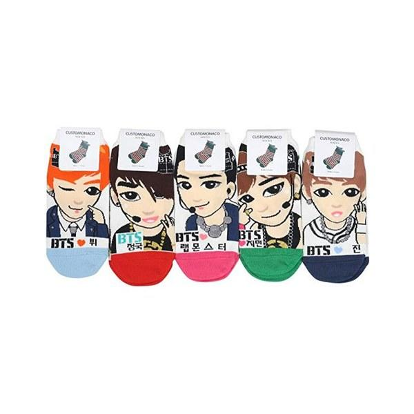 """This season of snow can get pretty cold, but these unofficial BTS socks will keep you warm. And even if you don't experience any frigid weather, you'll still want to match this set of colorful socks to all of your favorite outfits. $14, Amazon. <a href=""""https://www.amazon.com/Womens-Kpop-Socks-Multi-Colors/dp/B0151IJV82"""">Get it now!</a>"""