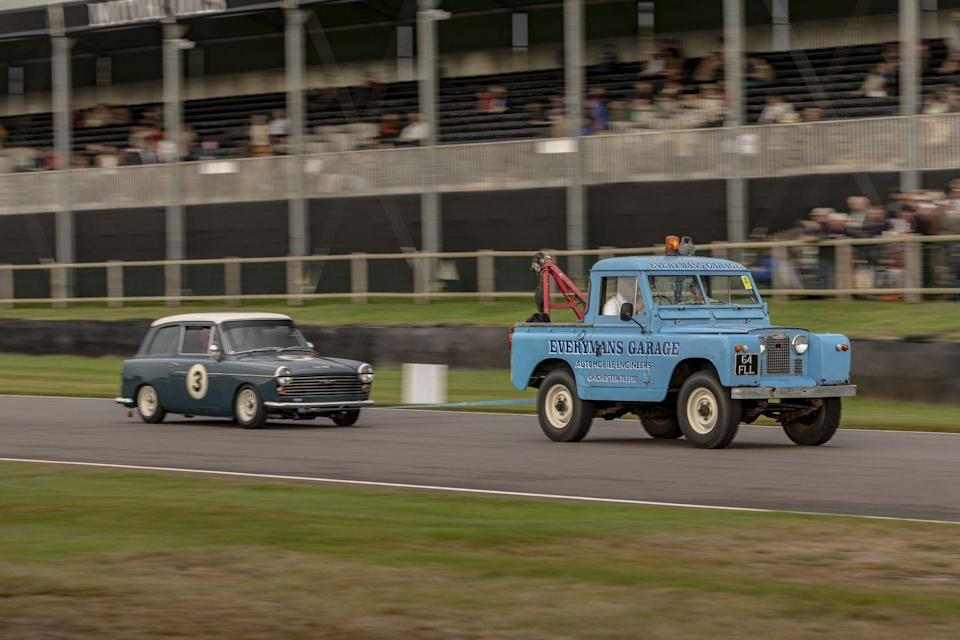 """<p>Incidents brought out the Land Rover tow trucks. If the trucks had charged for tows, much money would have been made over the weekend. If the tow driver owned a garage, he would have been set for life after any single accident. A C-type, an E-type, and a couple of Cobras didn't finish their races looking the same way they'd started, those being just the wrecks we saw personally. Doing a search for """"Goodwood Revival accident"""" gets you pages of breathtakingly expensive horror.</p>"""