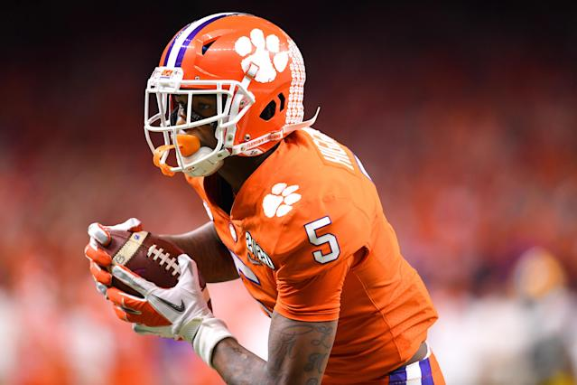 Clemson WR Tee Higgins could help the Texans. (Photo by Jamie Schwaberow/Getty Images)