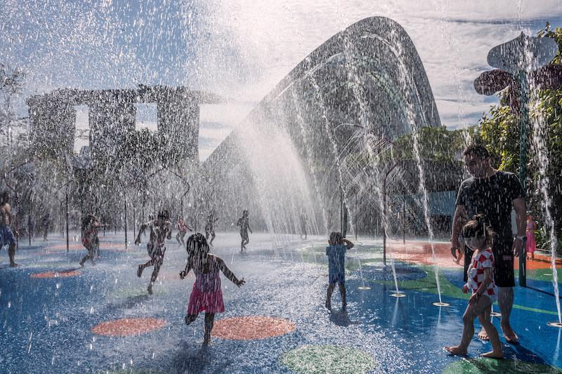 The single father captured this beautiful moment of his daughter running to him on a hot summer day at a water park. Photo: Partha Pratim Roy