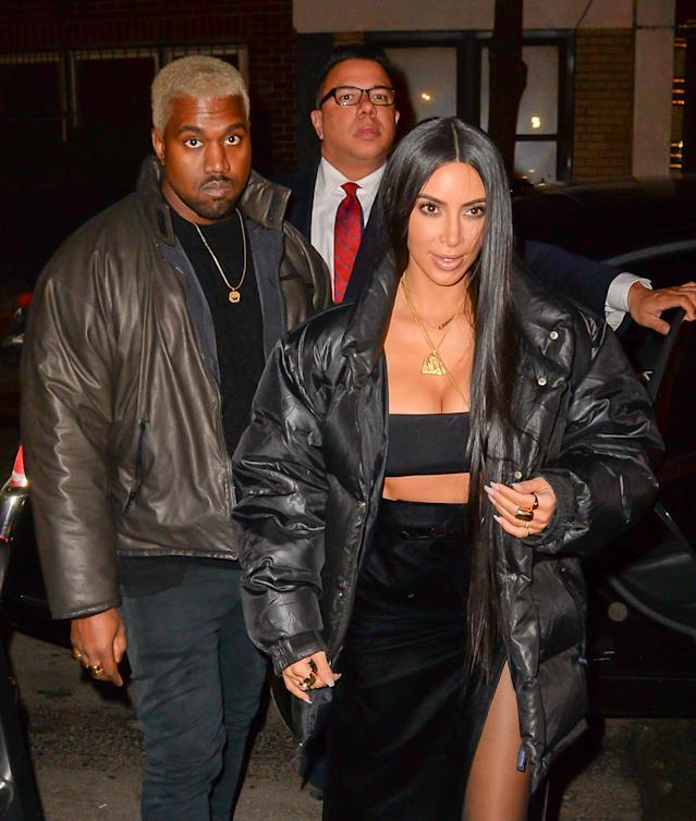 Kanye West and Kim Kardashian. (Photo: Getty Images)