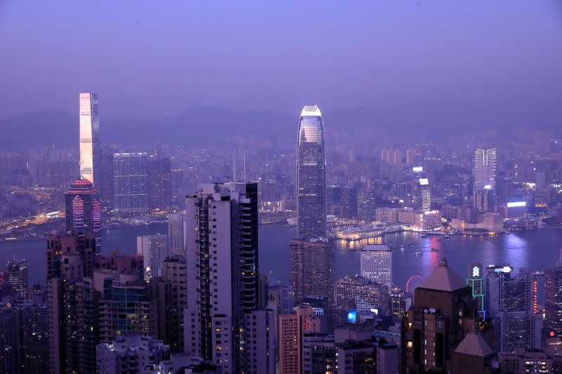 FILE PHOTO: Hong Kong skyline is pictured from Victoria Peak in Hong Kong