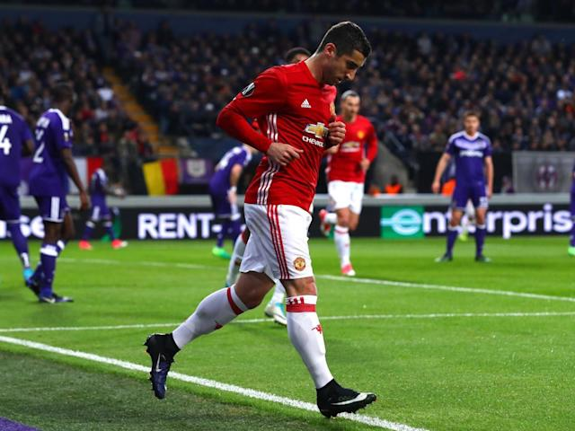 Mkhitaryan got the goal from the tightest of angles (Getty)