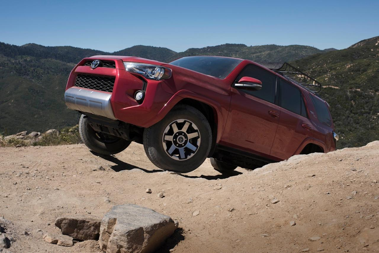 The 2017 Toyota 4Runner TRD Off-Road model makes the most of the 4Runner's old-school design by enhancing the truck-like SUV's off-road capabilities. This is not your average crossover.