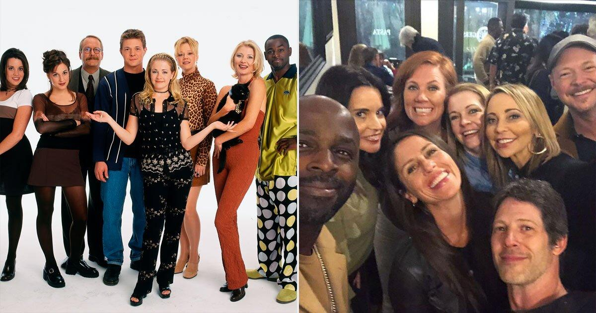 """In February 2020, Melissa Joan Hart, who played the titular Sabrina Spellman, rented out a coffee shop in Los Angeles to host <a href=""""https://people.com/tv/sabrina-the-teenage-witch-cast-reunion/"""">an epic cast reunion</a> for her """"other family.""""  """"Last night was a #woohoo kinda night!"""" Hart, 43, captioned the a <a href=""""https://www.instagram.com/melissajoanhart/?utm_source=ig_embed"""">group selfie</a>from the event. """"100 members of our cast and crew got together for a casual hang out and reminisced about all things 90's, Magic and filling the gaps in the last 17 years.""""  The reunion brought together Nate Richert (Harvey), Elisa Donovan (Morgan), Alimi Ballard (The Quizmaster), Jenna Leigh Green (Libby), Soleil Moon Frye (Roxie), and many, many more stars from the show, which ran from 1996 - 2003."""