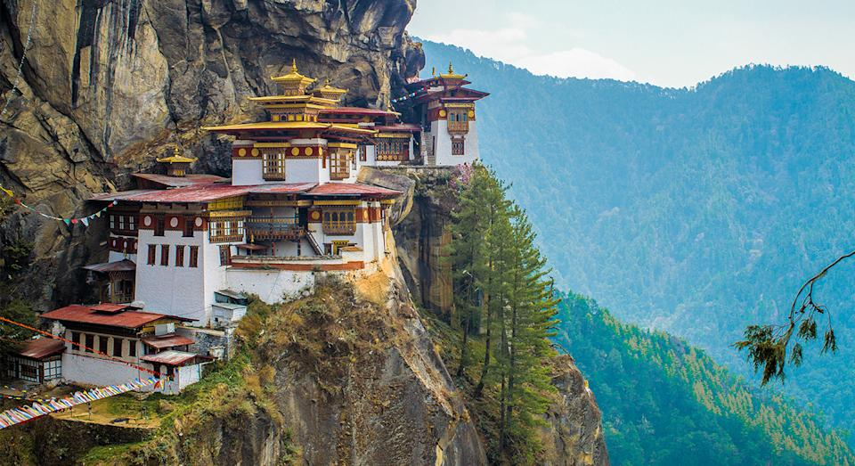The stunning Tiger's Nest in Bhutan. (Getty Images)