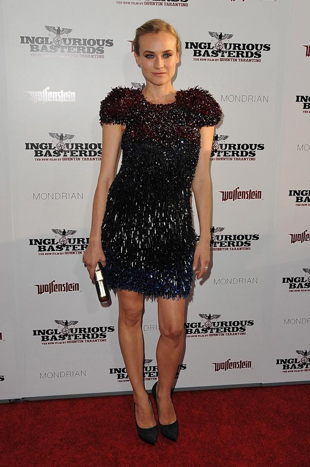 """<a href=""""http://movies.yahoo.com/movie/contributor/1808488303"""">Diane Kruger</a> at the Los Angeles premiere of <a href=""""http://movies.yahoo.com/movie/1808404206/info"""">Inglourious Basterds</a> - 08/10/2009"""