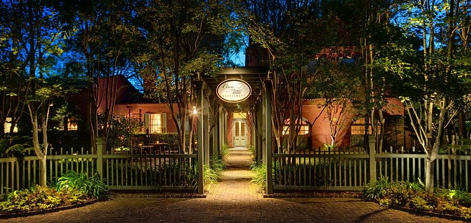 """This popular Charleston establishment in set in the original carriage house of the Wentworth Mansion and retains many of the classic architectural elements, from the original pine floors to the wood-burning fireplace in the kitchen. Couples can dine on chef Marc Collins's contemporary takes on Lowcountry cuisine surrounded by candlelight. <em>49 Wentworth Street, Charleston, South Carolina;</em> <a href=""""https://www.circa1886.com/""""><em>circa1886.com</em></a>"""