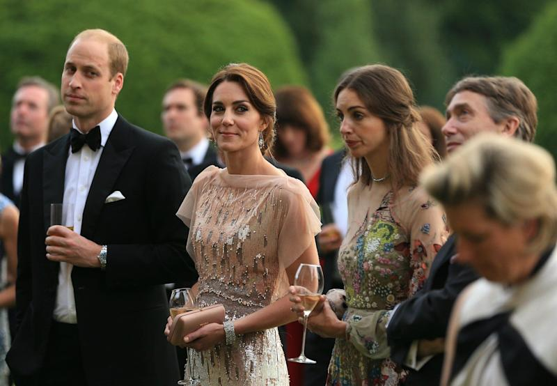Rose and David Cholmondeley alongside Kate Middleton and Prince William
