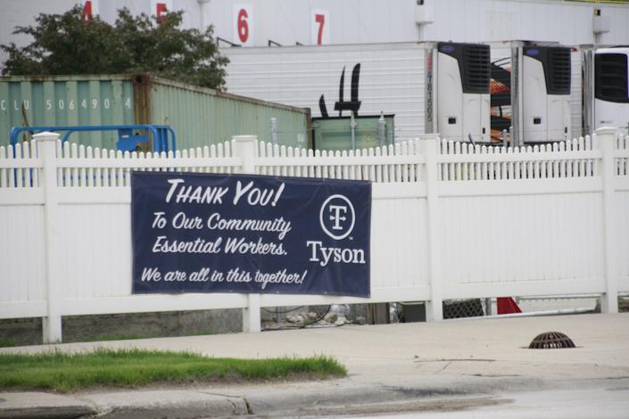 The Tyson Foods pork processing plant in Storm Lake, Iowa, on May 27, 2020.