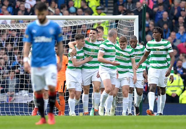 Celtic 4 Rangers 0: The Bhoys stroll into Scottish Cup final as Old Firm rivals pay the penalty