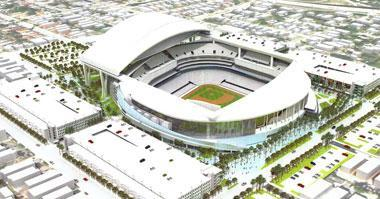File illustration released by the City of Miami on Jan. 27, 2009, shows the proposed new Florida Marlins baseball team's ballpark
