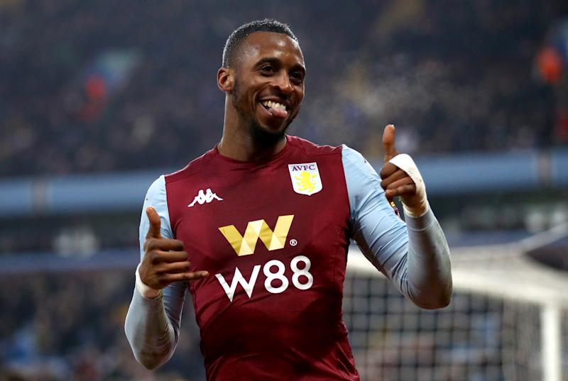 Aston Villa's Jonathan Kodjia celebrates scoring his side's fourth goal of the game Aston Villa v Liverpool - Carabao Cup - Quarter Final - Villa Park 17-12-2019 . (Photo by Tim Goode/EMPICS/PA Images via Getty Images)