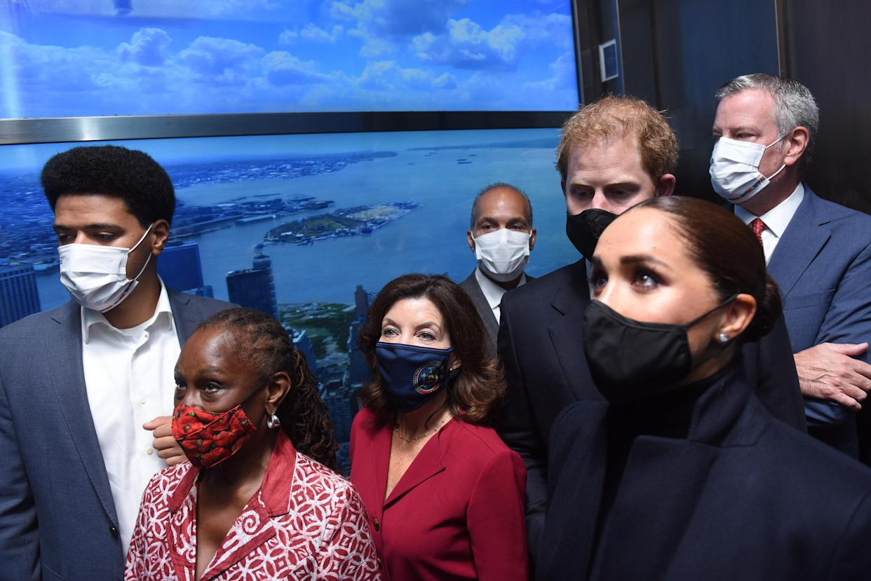 Harry and Meghan on their visit to New York