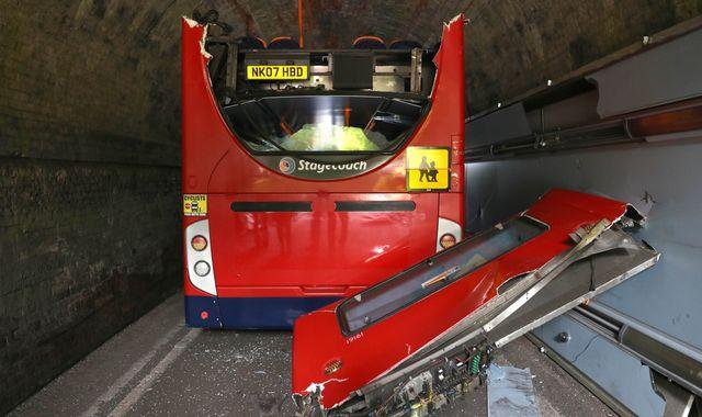 Winchester bus crash: 'Massive bang' as roof torn off after hitting bridge, leaving children 'seriously' injured