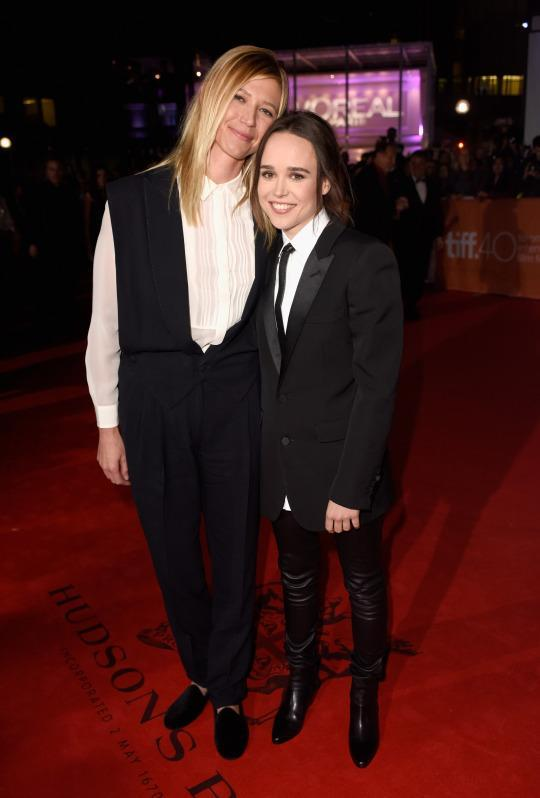 "<p>For the premiere of her new film ""Freeheld,"" Ellen Page brought along girlfriend Samantha Thomas, marking the couple's red carpet debut. ""I'm in love. Walking down the carpet holding my girlfriend's hand is pretty special. It's pretty awesome,"" the 28-year-old actress, who wore leather pants with boots and a blazer, told E! News. Thomas, also an actress, opted for a navy blue jumpsuit with black velvet slippers. In the film, which has received rave reviews, Page plays Julianne Moore's girlfriend, a police officer who was diagnosed with terminal cancer. Based on the true story of true story of Laurel Hester, Moore's character fights for her lesbian partner Stacie to receive her pension benefits after her death. Page, who plays Stacie, came out as gay herself in 2014.</p>"