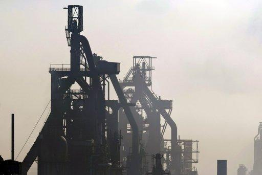 Blast furnaces at Florange, in the eastern Lorraine region of France, in October. French Prime Minister Jean-Marc Ayrault announced a deal with steel giant ArcelorMittal which he said saved part of a massive plant that had been threatened with closure
