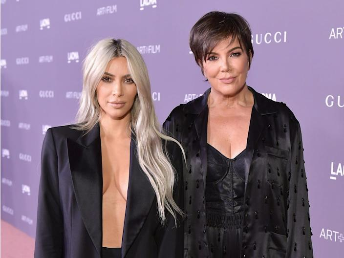 Kim and her mom have similar facial features.