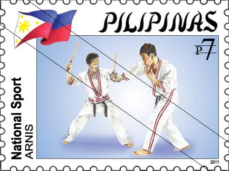 The 'arnis' can now be seen on Philippine stamps