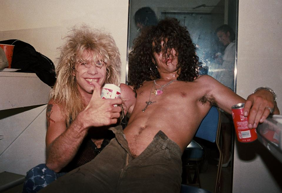 Steven Adler and Slash in 1986. (Photo: Marc S Canter/Michael Ochs Archives/Getty Images)