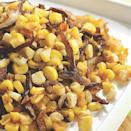 <p>Roasting brings out the sweetness of the corn and browns the shiitake mushrooms. Rice wine and soy sauce balance the flavors. Try it with grilled pork tenderloin.</p>