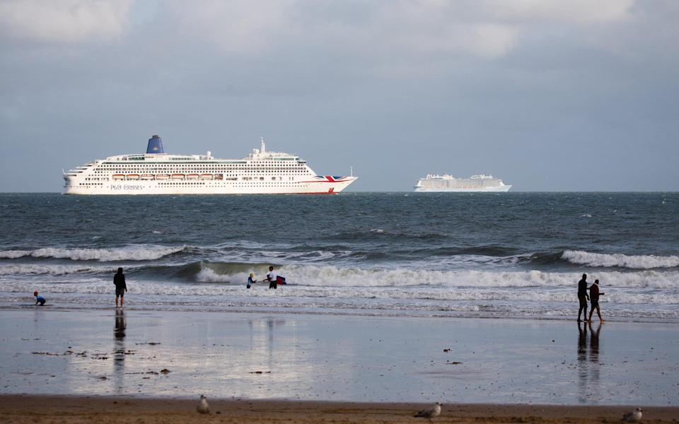 'Ghost ships' have been a popular site along England's south coast since the suspension of cruises in March 2020 - DAVID CLIFF/GETTY