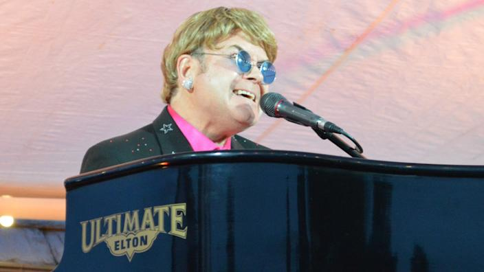 Ultimate Elton was one of the first acts to perform in front of an audience since lockdown