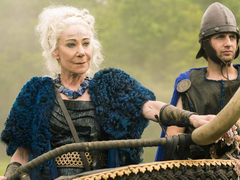 Zoe Wanamaker as Queen Antedia in 'Britannia' (Sky UK ltd)