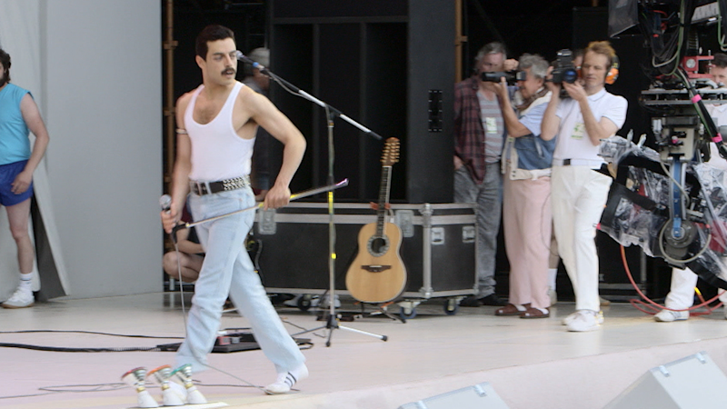 How  Bohemian Rhapsody  Costume Designer Recreated the Iconic Live Aid  Performance Look 06fdc9836