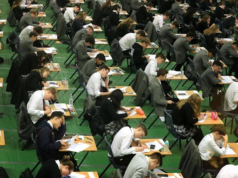 Independent schools across the country have refused to allow their pupils to sit the tougher exams which state schools have been required to set before their students this summer under government reforms: PA