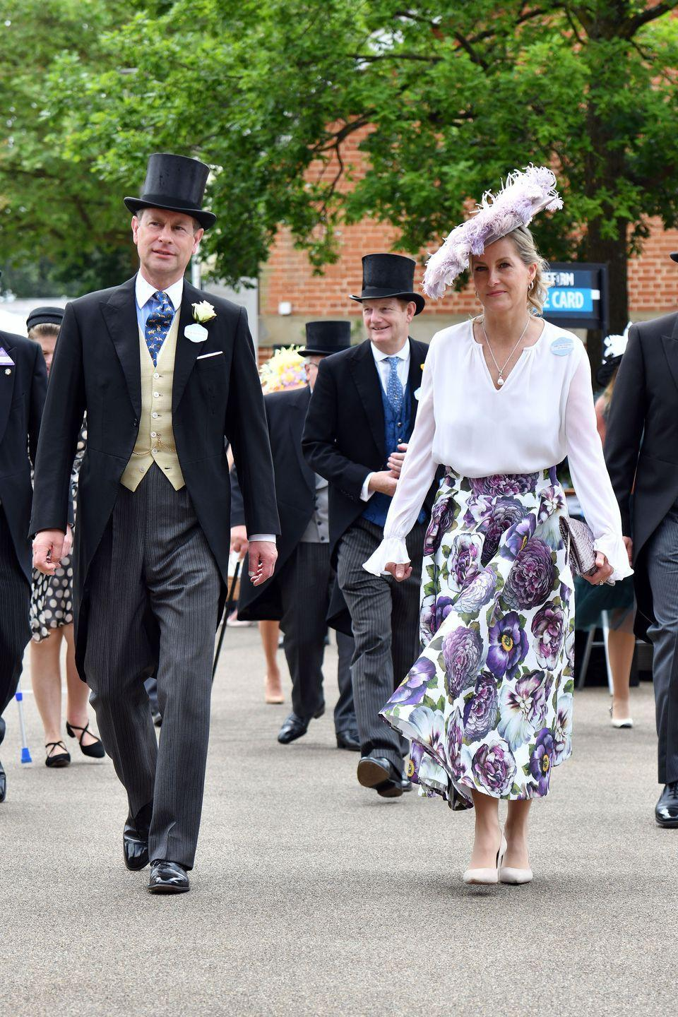 <p>Prince Edward and Sophie, Countess of Wessex attend Royal Ascot on June 16, 2021.</p>