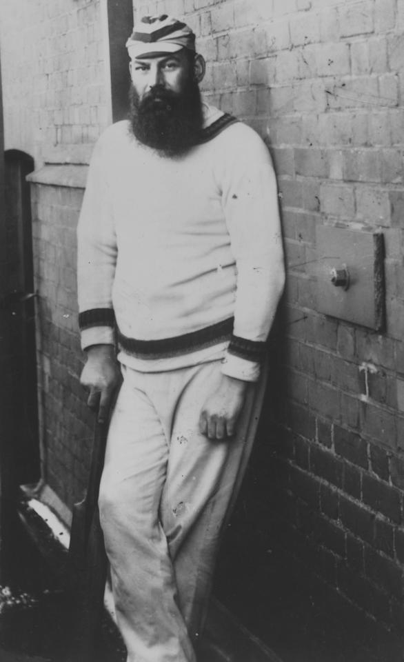 May 1895:  W G Grace (William Gilbert Grace, 1848 - 1915), cricketer for Gloucestershire, London County, and England, on the roof of the Old Pavilion at Lord's cricket ground. Grace was considered to be a great all-rounder in the game, and dominated cricket at the end of the 19th Century.  (Photo by Hulton Archive/Getty Images)