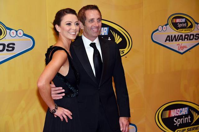"<a class=""link rapid-noclick-resp"" href=""/nascar/sprint/drivers/184/"" data-ylk=""slk:Greg Biffle"">Greg Biffle</a> and ex-wife Nicole in 2014. (Getty)"