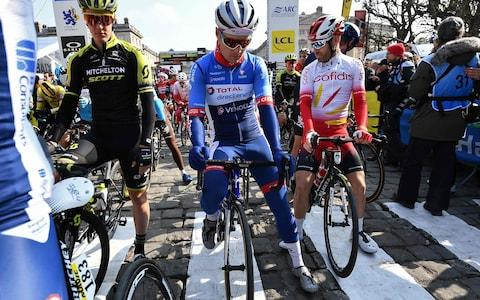 <span>The new Total-Direct Énergie kit is getting an airing at Paris-Roubaix</span> <span>Credit: Getty Images </span>