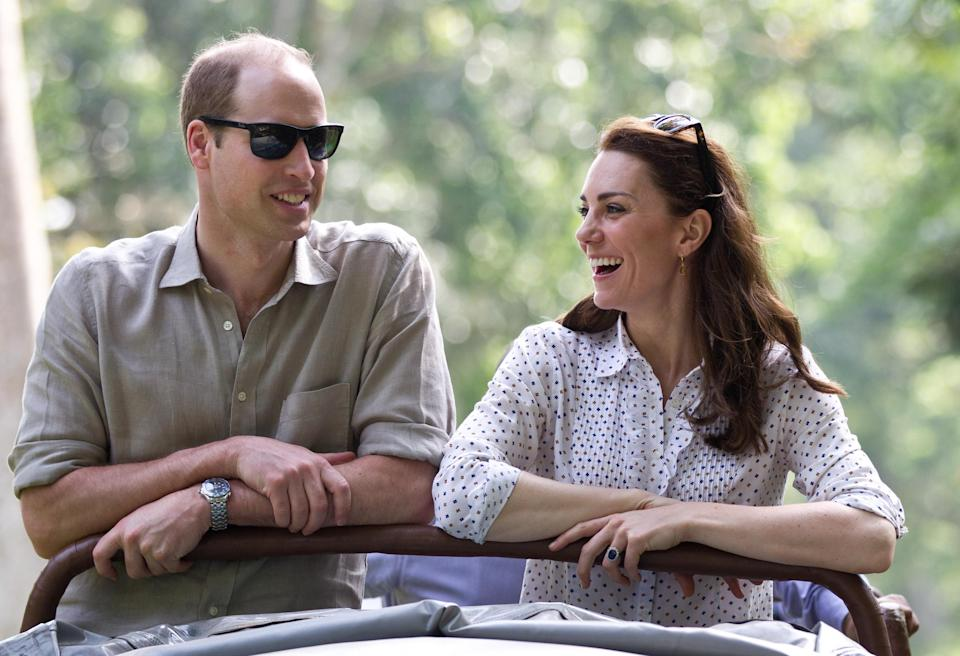 Prince William and Kate, pictured here on safari in India, visited the island in 2006 (Samir Hussein/WireImage/via Getty Images)