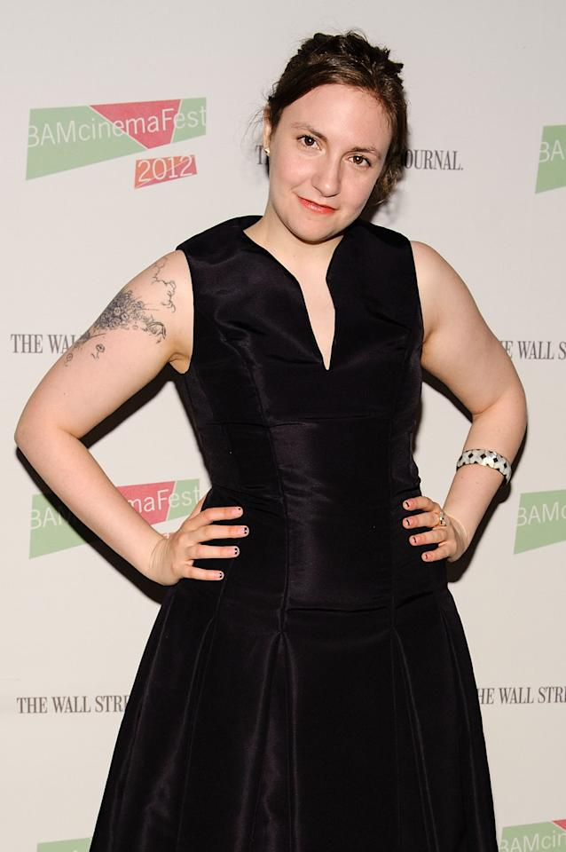 "NEW YORK, NY - JUNE 23: Actress/ writer Lena Dunham of HBO's ""Girls"" attends BAMcinemaFest 2012 screening of ""Nobody Walks"" at the Brooklyn Academy of Music on June 23, 2012 in the Brooklyn borough of New York City. (Photo by Matthew Eisman/WireImage)"