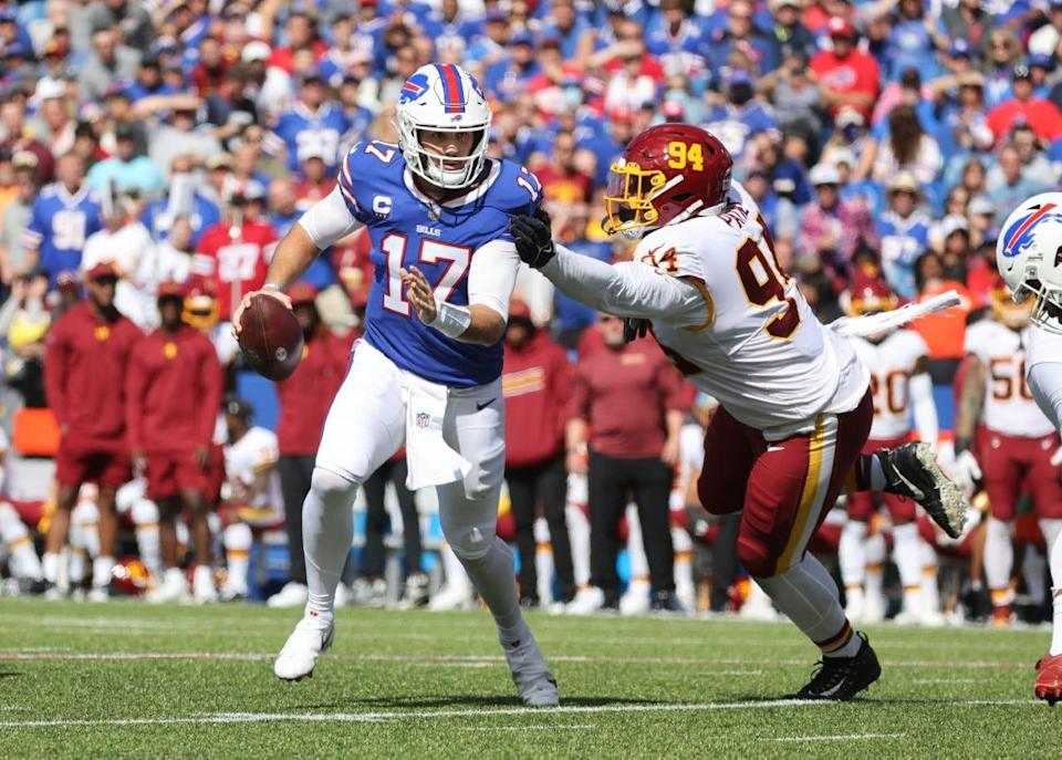 Josh Allen was on point all day as he threw for four touchdowns and rushed for one.